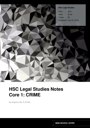 the nature of crime legal studies So here is a compilation of the most important pieces of legislation for the core: crime, to be used as a 'check-list' for your study – the hsc legal studies crime legislation master list 1 the nature of crime.