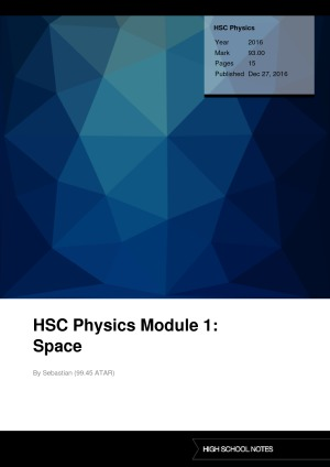 Band 6 HSC Physics notes | High School Notes