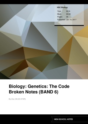 Biology genetics the code broken notes band 6 high school notes biology genetics the code broken notes band 6 malvernweather Images