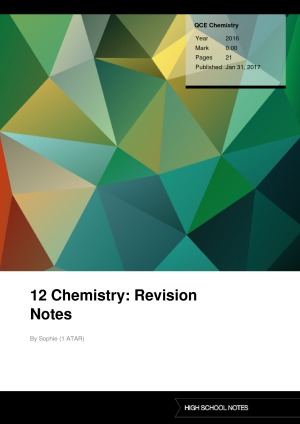 12 Chemistry: Revision Notes | High School Notes
