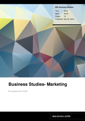 Band 6 HSC Business Studies notes | High School Notes